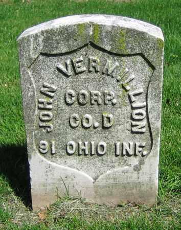 VERMILLION, JOHN - Clark County, Ohio   JOHN VERMILLION - Ohio Gravestone Photos