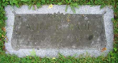 WAHL, ALICE C. - Clark County, Ohio | ALICE C. WAHL - Ohio Gravestone Photos