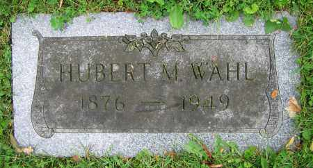 WAHL, HUBERT M. - Clark County, Ohio | HUBERT M. WAHL - Ohio Gravestone Photos