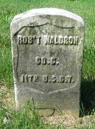 WALDRON, ROB'T - Clark County, Ohio | ROB'T WALDRON - Ohio Gravestone Photos