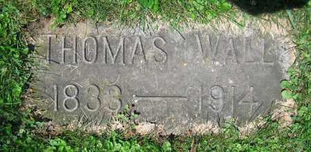 WALL, THOMAS - Clark County, Ohio | THOMAS WALL - Ohio Gravestone Photos