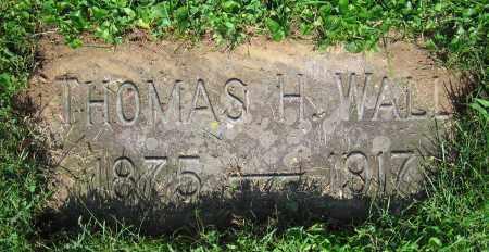 WALL, THOMAS H. - Clark County, Ohio | THOMAS H. WALL - Ohio Gravestone Photos