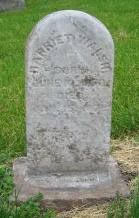 WALSH, HARRIET - Clark County, Ohio | HARRIET WALSH - Ohio Gravestone Photos