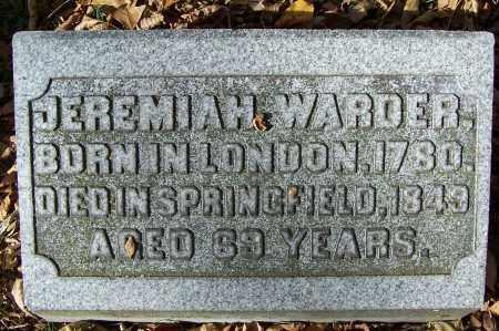 WARDER, JEREMIAH - Clark County, Ohio   JEREMIAH WARDER - Ohio Gravestone Photos