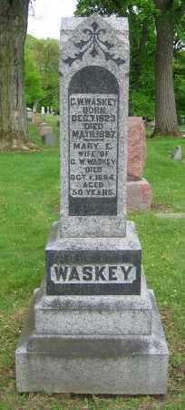 WASKEY, C.W. - Clark County, Ohio   C.W. WASKEY - Ohio Gravestone Photos