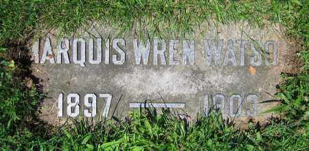 WATSON, MARQUIS WREN - Clark County, Ohio   MARQUIS WREN WATSON - Ohio Gravestone Photos
