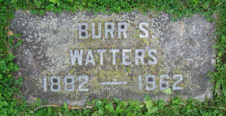 WATTERS, BURR S. - Clark County, Ohio   BURR S. WATTERS - Ohio Gravestone Photos