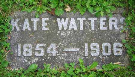 WATTERS, KATE - Clark County, Ohio | KATE WATTERS - Ohio Gravestone Photos