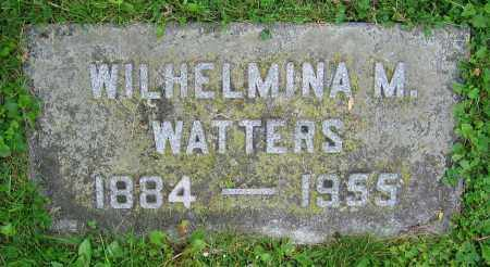 WATTERS, WILHELMINA M. - Clark County, Ohio   WILHELMINA M. WATTERS - Ohio Gravestone Photos