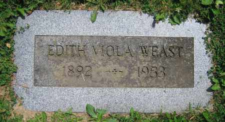 WEAST, EDITH VIOLA - Clark County, Ohio | EDITH VIOLA WEAST - Ohio Gravestone Photos
