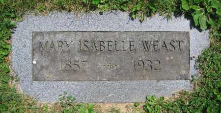 WEAST, MARY ISABELLE - Clark County, Ohio   MARY ISABELLE WEAST - Ohio Gravestone Photos