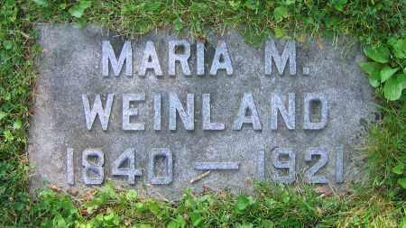 WEINLAND, MARIA M. - Clark County, Ohio   MARIA M. WEINLAND - Ohio Gravestone Photos
