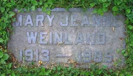 WEINLAND, MARY JEANNE - Clark County, Ohio | MARY JEANNE WEINLAND - Ohio Gravestone Photos