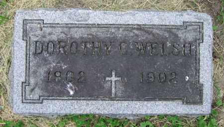 WELSH, DOROTHY C. - Clark County, Ohio   DOROTHY C. WELSH - Ohio Gravestone Photos