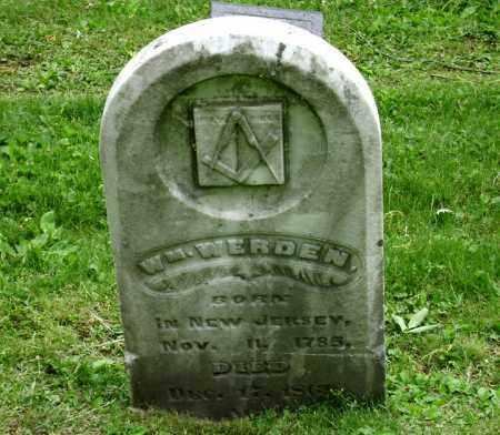 WERDEN, WILLIAM - Clark County, Ohio | WILLIAM WERDEN - Ohio Gravestone Photos