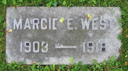 WEST, MARCIE E. - Clark County, Ohio | MARCIE E. WEST - Ohio Gravestone Photos