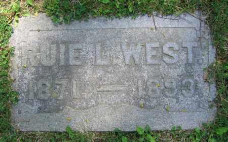 WEST, RUIE L. - Clark County, Ohio   RUIE L. WEST - Ohio Gravestone Photos