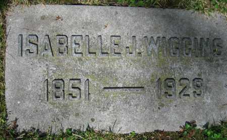 WIGGINS, ISABELLE J. - Clark County, Ohio | ISABELLE J. WIGGINS - Ohio Gravestone Photos