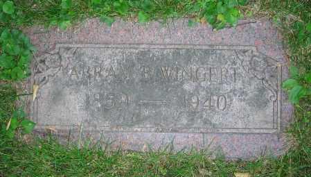 WINGERT, ABRAM B. - Clark County, Ohio | ABRAM B. WINGERT - Ohio Gravestone Photos