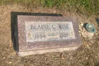 WISE, BLAINE C. - Clark County, Ohio | BLAINE C. WISE - Ohio Gravestone Photos