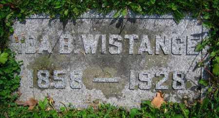 WISTANCE, IDA B. - Clark County, Ohio | IDA B. WISTANCE - Ohio Gravestone Photos