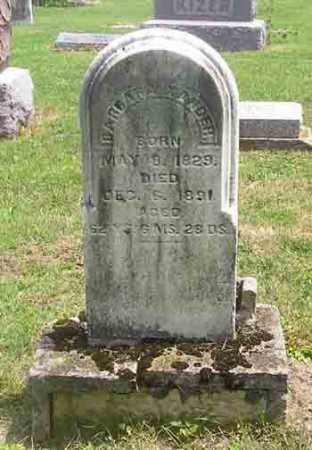 XANDER, BARBARA - Clark County, Ohio   BARBARA XANDER - Ohio Gravestone Photos
