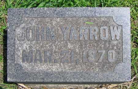 YARROW, JOHN - Clark County, Ohio   JOHN YARROW - Ohio Gravestone Photos