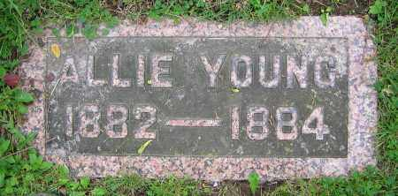 YOUNG, ALLIE - Clark County, Ohio | ALLIE YOUNG - Ohio Gravestone Photos