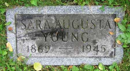YOUNG, SARA AUGUSTA - Clark County, Ohio   SARA AUGUSTA YOUNG - Ohio Gravestone Photos