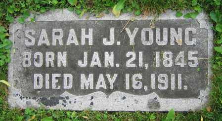 YOUNG, SARAH J. - Clark County, Ohio   SARAH J. YOUNG - Ohio Gravestone Photos