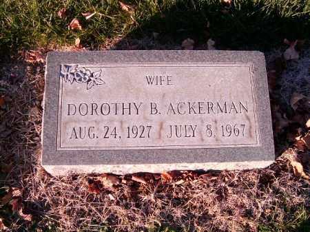 ACKERMAN, DOROTHY  B - Clermont County, Ohio | DOROTHY  B ACKERMAN - Ohio Gravestone Photos