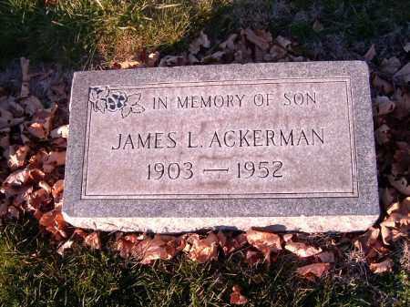 ACKERMAN, JAMES L - Clermont County, Ohio | JAMES L ACKERMAN - Ohio Gravestone Photos