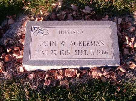 ACKERMAN, JOHN W - Clermont County, Ohio | JOHN W ACKERMAN - Ohio Gravestone Photos