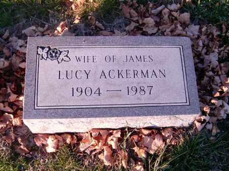ACKERMAN, LUCY - Clermont County, Ohio | LUCY ACKERMAN - Ohio Gravestone Photos