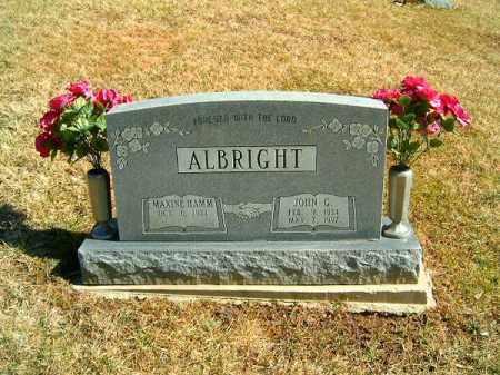 ALBRIGHT, JOHN G - Clermont County, Ohio   JOHN G ALBRIGHT - Ohio Gravestone Photos