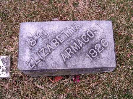 ARMACOST, ELIZABETH  A - Clermont County, Ohio | ELIZABETH  A ARMACOST - Ohio Gravestone Photos