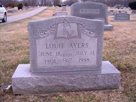 AYERS, LOUIE - Clermont County, Ohio   LOUIE AYERS - Ohio Gravestone Photos