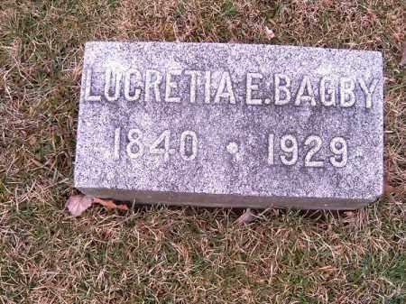 BAGBY, LUCRETIA  E - Clermont County, Ohio | LUCRETIA  E BAGBY - Ohio Gravestone Photos