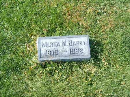 BAGBY, MERTA  M - Clermont County, Ohio   MERTA  M BAGBY - Ohio Gravestone Photos