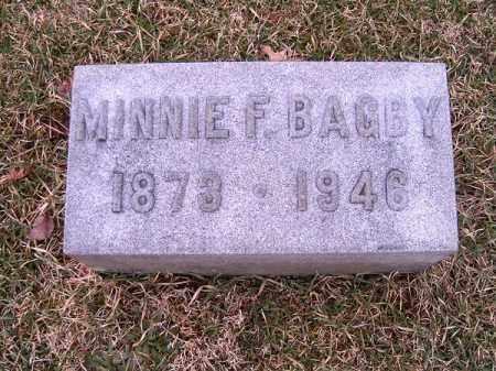 BAGBY, MINNIE   F - Clermont County, Ohio   MINNIE   F BAGBY - Ohio Gravestone Photos
