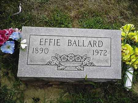 BALLARD, EFFIE - Clermont County, Ohio | EFFIE BALLARD - Ohio Gravestone Photos