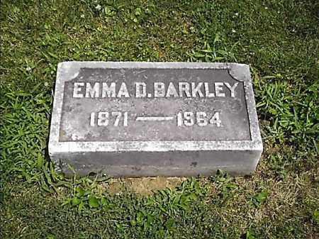 BARKLEY, EMMA  D - Clermont County, Ohio | EMMA  D BARKLEY - Ohio Gravestone Photos