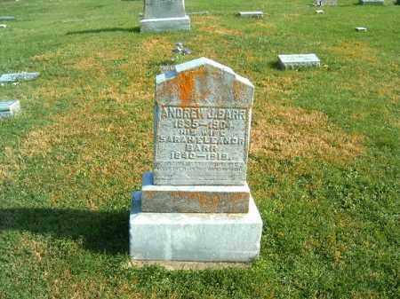 BARR, ANDREW  J - Clermont County, Ohio   ANDREW  J BARR - Ohio Gravestone Photos