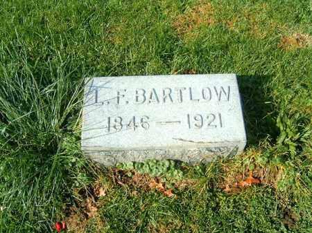 BARTLOW, L F - Clermont County, Ohio   L F BARTLOW - Ohio Gravestone Photos