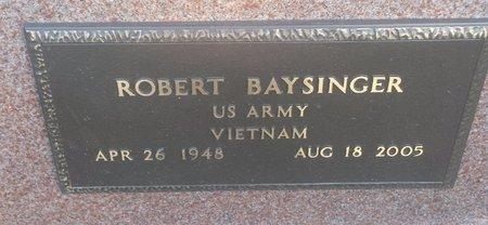 BAYSINGER, ROBERT - Clermont County, Ohio   ROBERT BAYSINGER - Ohio Gravestone Photos