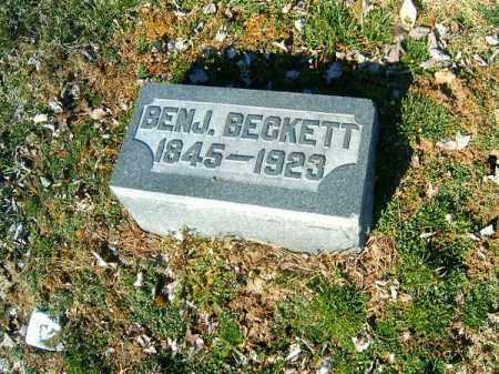 BECKETT, BENJAMIN - Clermont County, Ohio | BENJAMIN BECKETT - Ohio Gravestone Photos