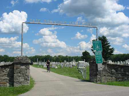 BETHEL TATE, CEMETERY VIEW- ENTRANCE - Clermont County, Ohio | CEMETERY VIEW- ENTRANCE BETHEL TATE - Ohio Gravestone Photos