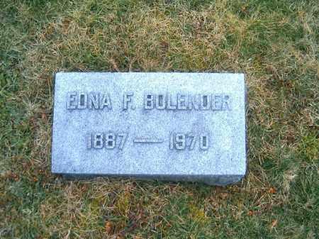 BOLENDER, EDNA  F - Clermont County, Ohio   EDNA  F BOLENDER - Ohio Gravestone Photos