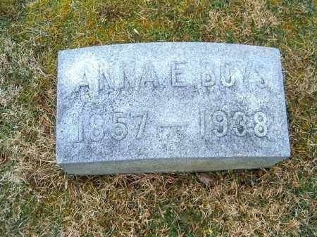 BOYS, ANNA  E - Clermont County, Ohio | ANNA  E BOYS - Ohio Gravestone Photos