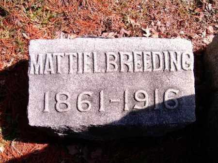 BREEDING, MATTIE  L - Clermont County, Ohio   MATTIE  L BREEDING - Ohio Gravestone Photos